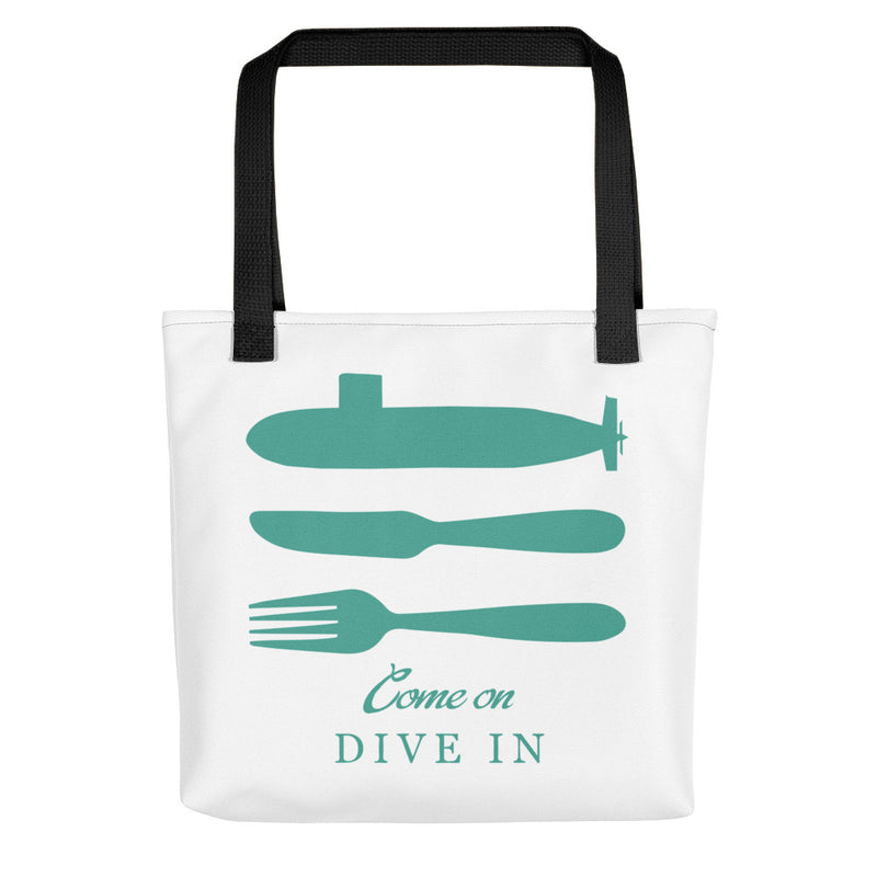 Come on Dive In Submarine Tote bag