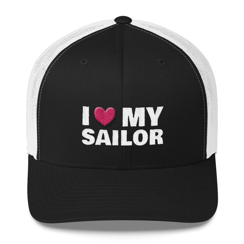 I love My Sailor - Embroidered Trucker Hat