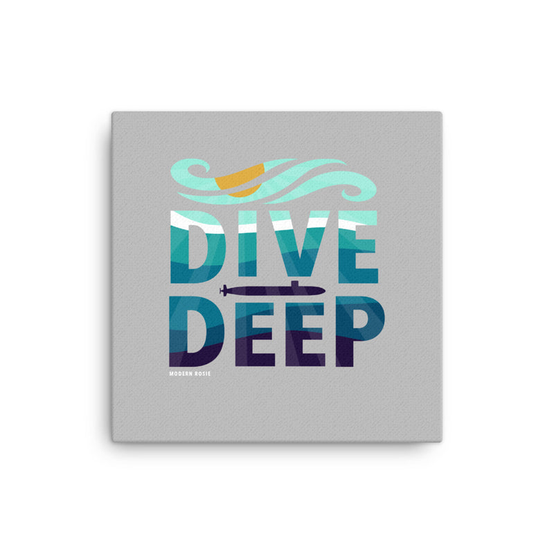 Dive Deep - Art on Canvas