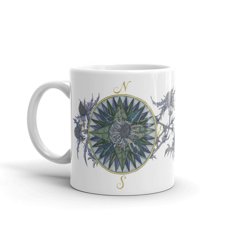 Blooming Compass: Sea Holly of the PNW - Coffee Mug Mug