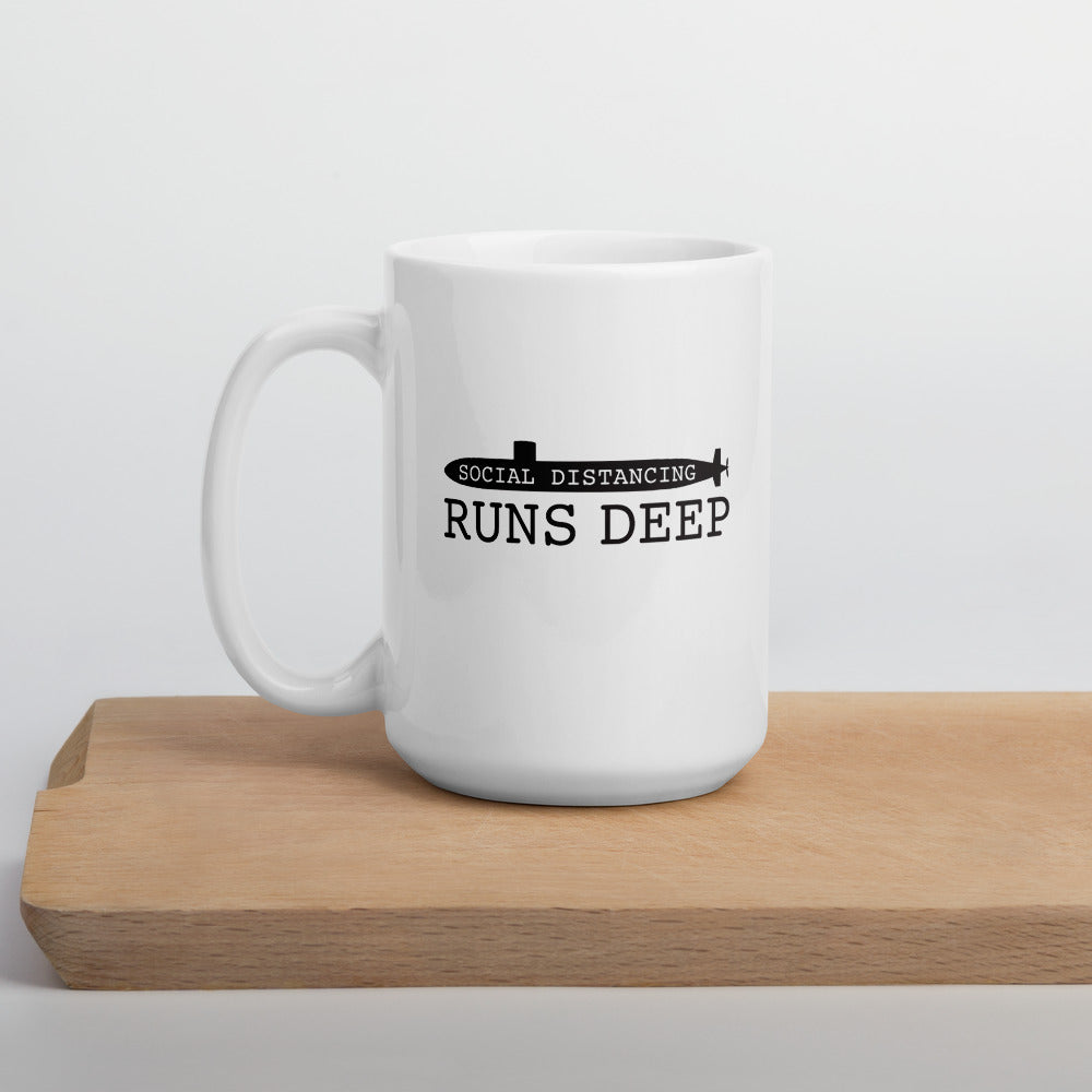 Social Distancing Runs Deep Mug