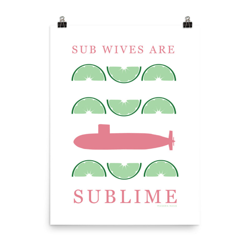 Sub Wives are Sublime - Art Print