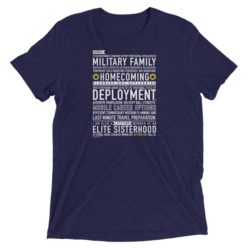 "The ""Air Force Wife Will Do"" Tee"
