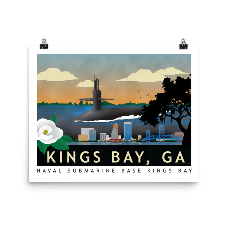 Kings Bay - Submarine Homeports - Art Print
