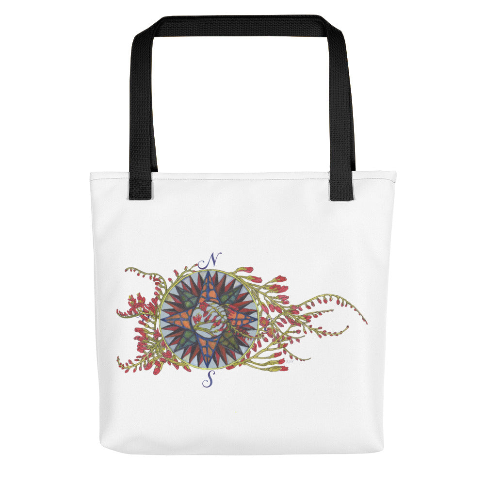 Blooming Compass: Freesia of the Pacific Islands - Tote bag