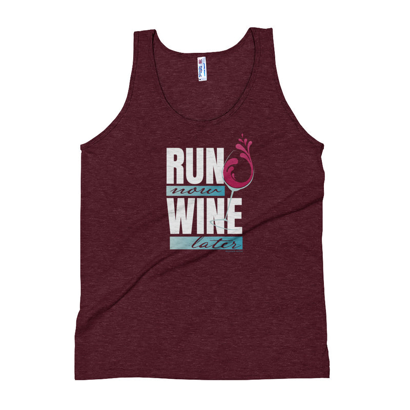 Run Now Wine Later (Red Wine) Tank Top