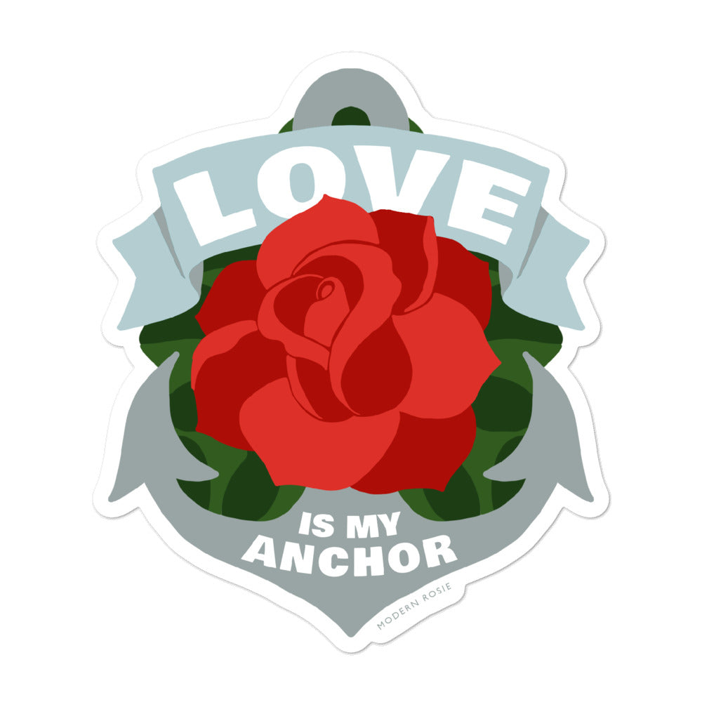 Love is My Anchor sticker