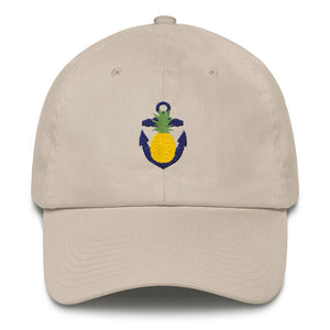 The Pineapple Anchor Hat - Classic Ball Cap with Embroidered Design from Modern Rosie