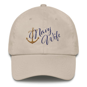 The Navy Wife Hat - Classic Embroidered Ball Cap from Modern Rosie