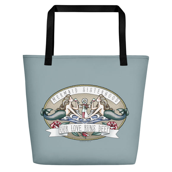 Mermaid Sisterhood Beach Bag