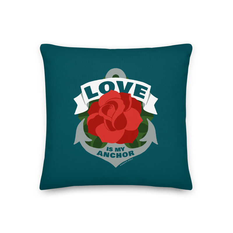 Love is My Anchor Throw Pillow