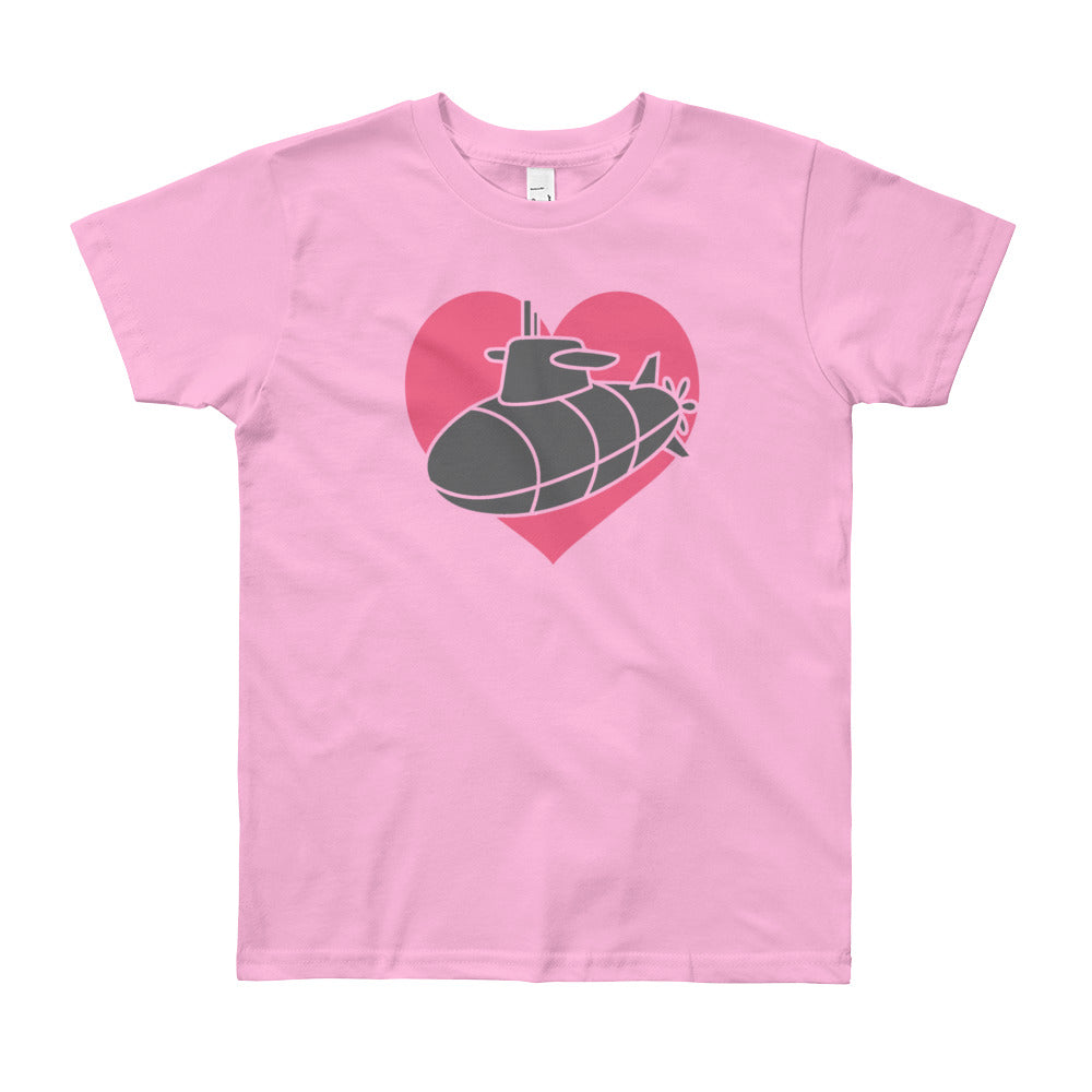 "The ""Sub Heart"" Kids Tee - big kids"