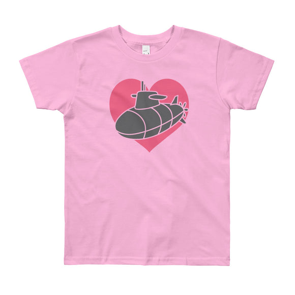 "The ""Sub Heart"" Kids Tee - big kids from Modern Rosie"
