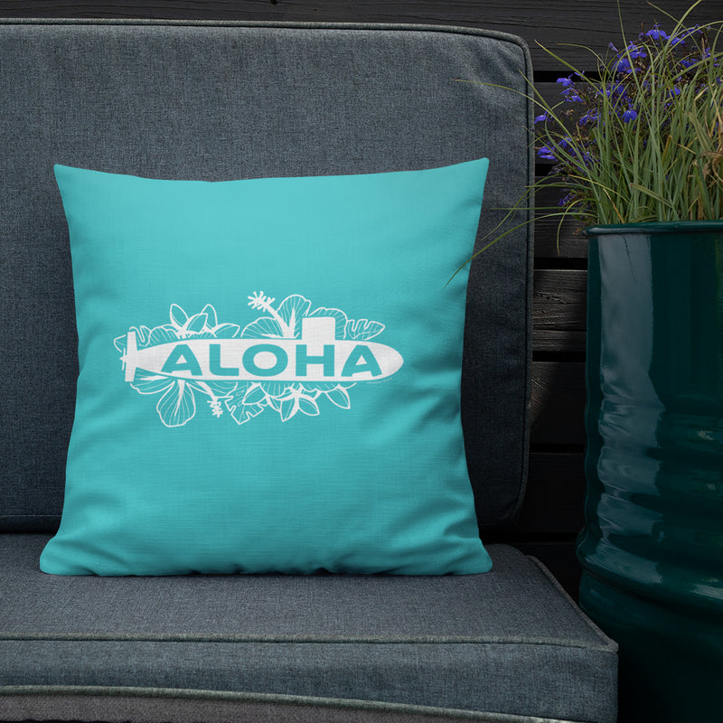 Aloha Floral Submarine Throw Pillow