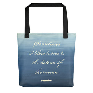 Kisses to Submarines Tote bag from Modern Rosie