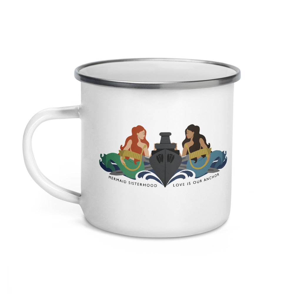 Surface Mermaid Sisterhood Insignia - Enamel Camp Mug