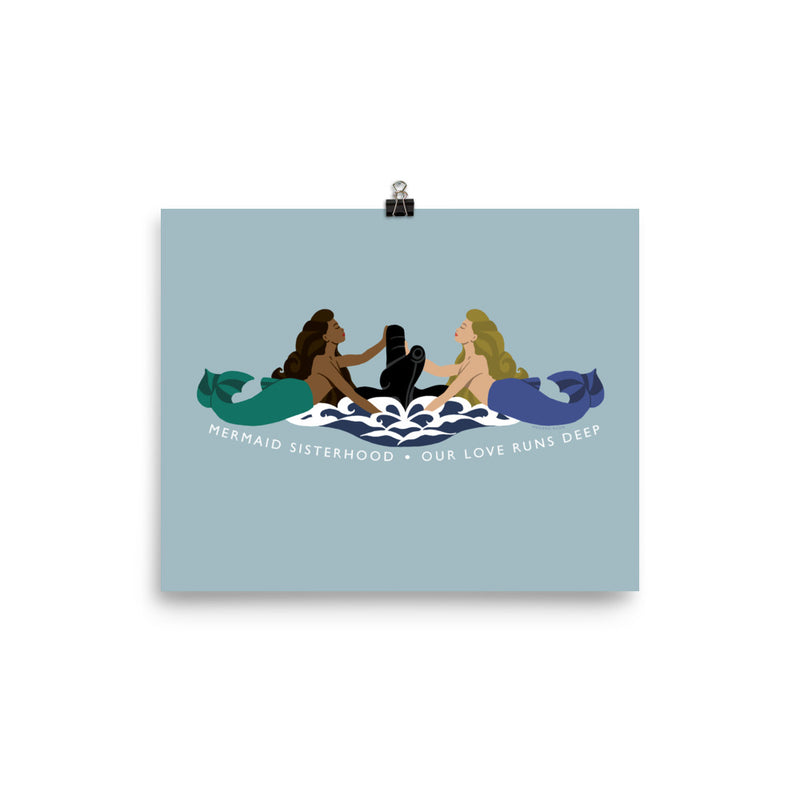 Submarine Mermaid Sisterhood Insignia - Art Print
