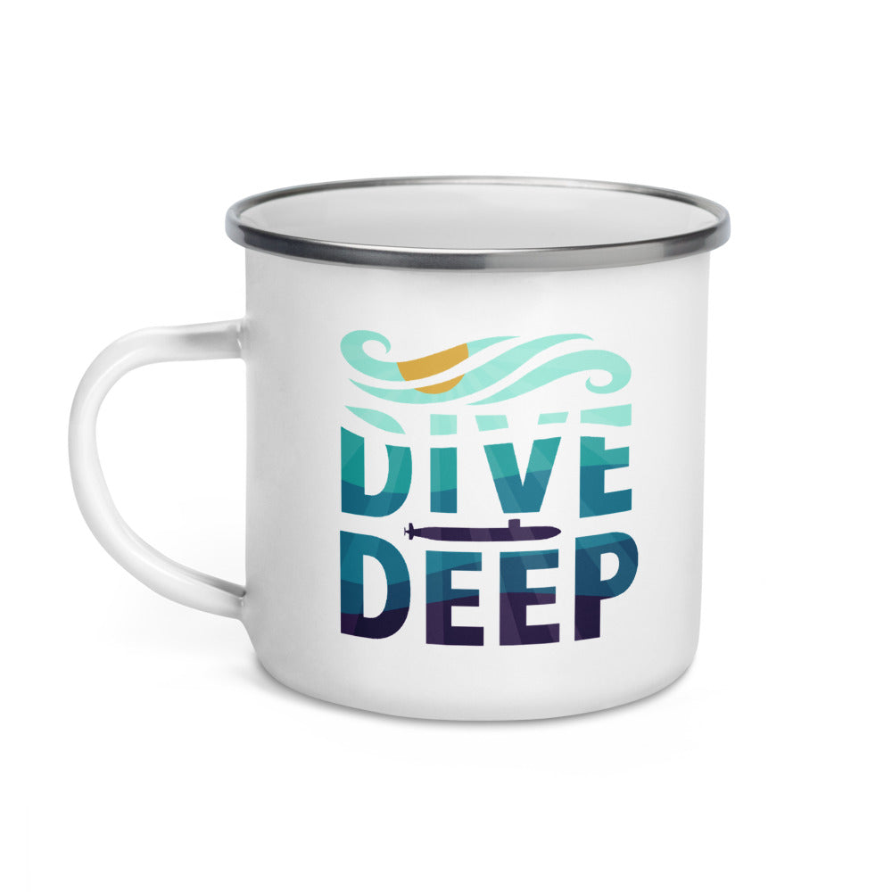 Dive Deep - Submarine Enamel Camp Mug
