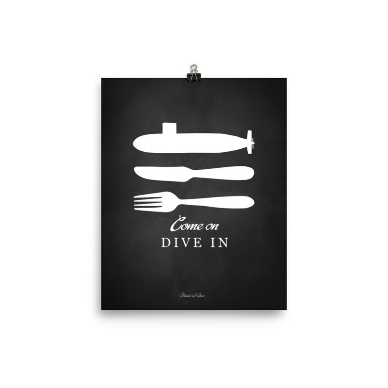 Submarine Galley - Come On Dive In - Art Print
