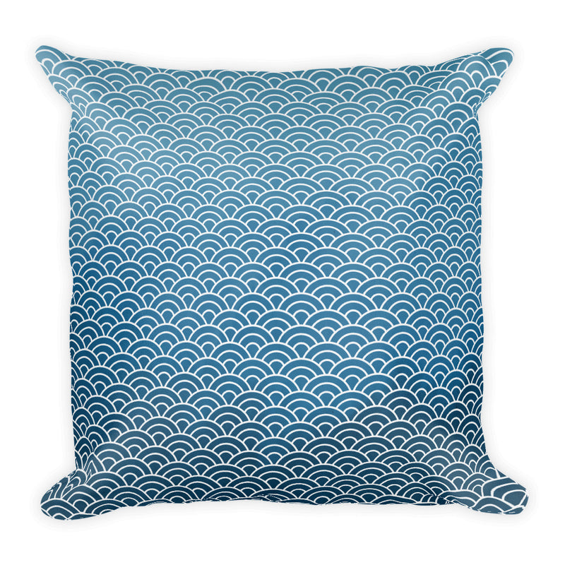 Japanese Ocean Throw Pillow