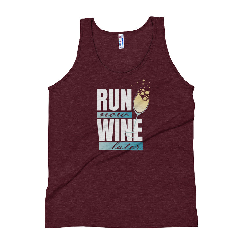 Run Now Wine Later (Champagne) - Tank Top