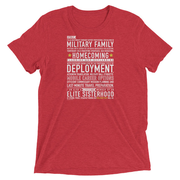 "The ""Military Wife Will Do"" Tee from Modern Rosie"