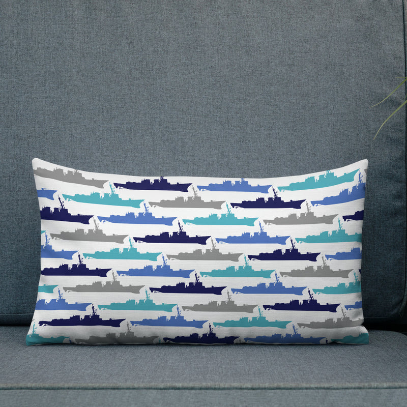 Destroyer Blues - Throw Pillow