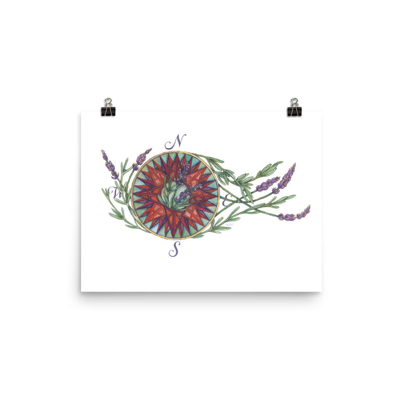 Blooming Compass: West Coast Lavender - Art Print