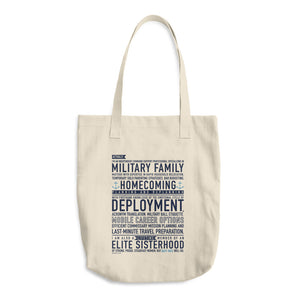 Navy Wife Will Do - Cotton Tote Bag
