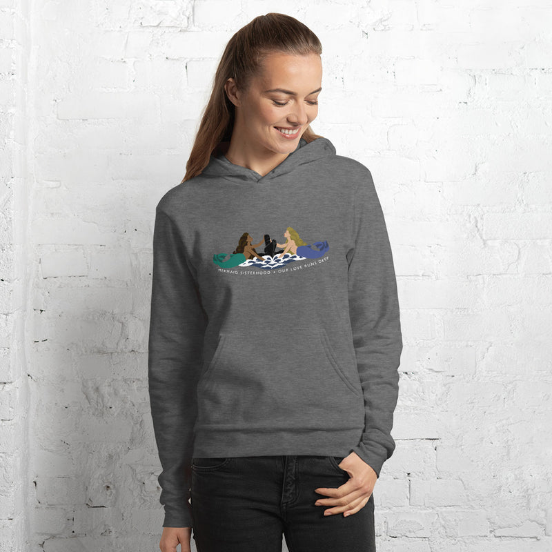 Submarine Mermaid Sisterhood Insignia - cozy hoodie