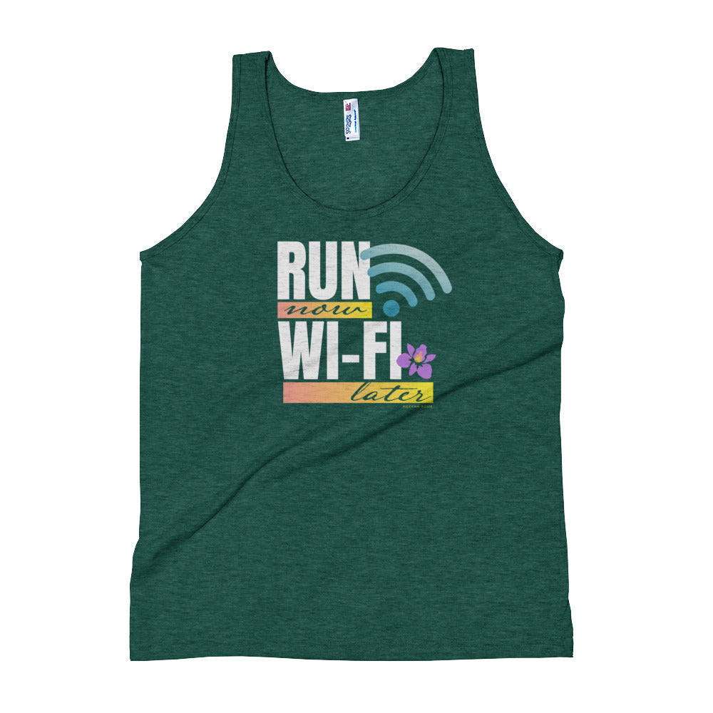 Run Now Wifi Later - Tank Top