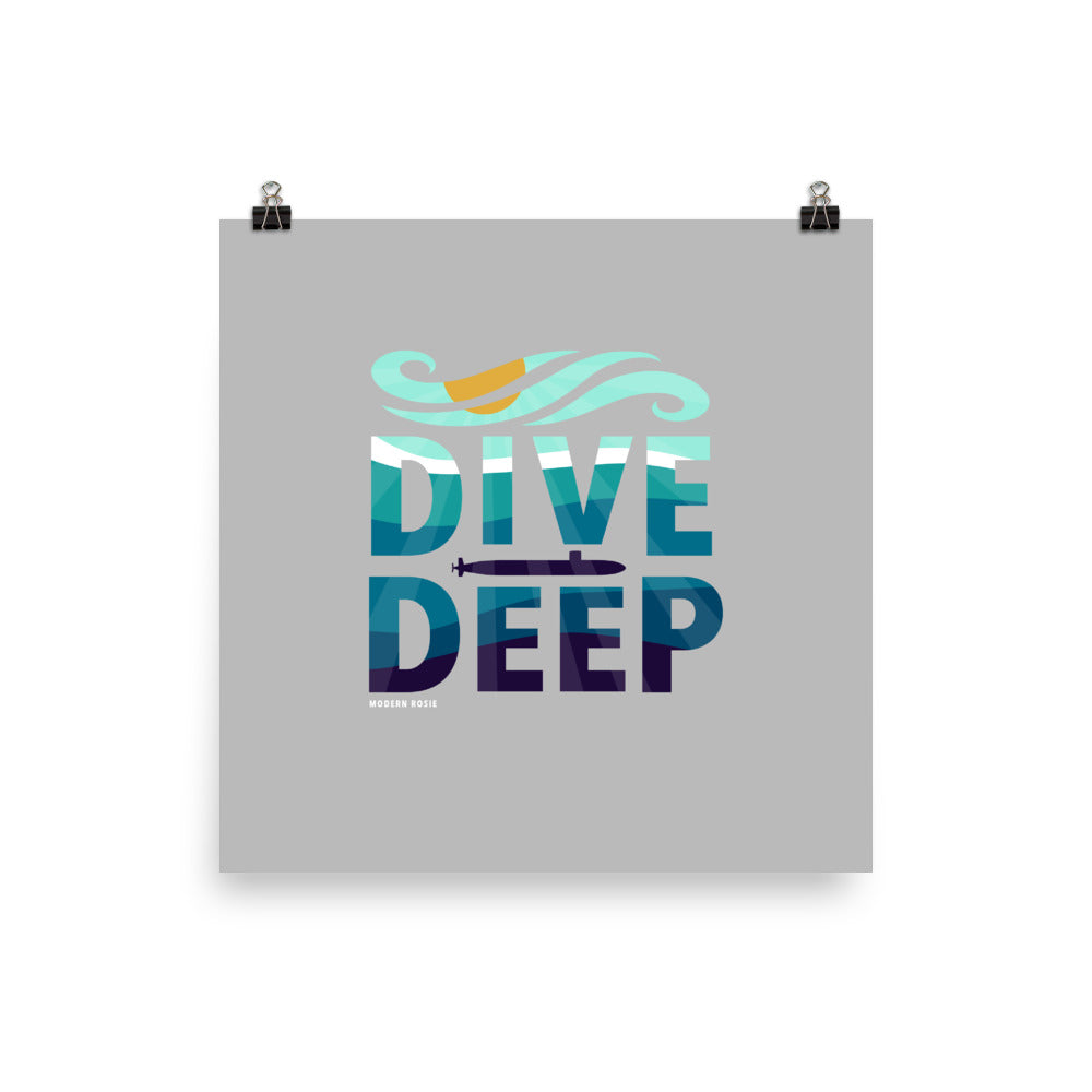 Dive Deep - Art Print
