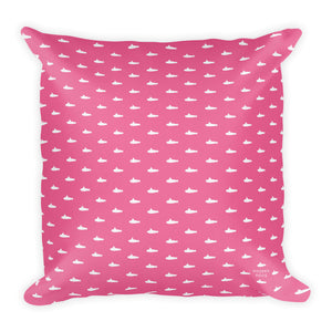 Tiny Submarines (in Pink) Throw Pillow from Modern Rosie