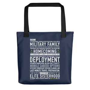 Navy Wife Will Do - Tote bag (Navy Blue)