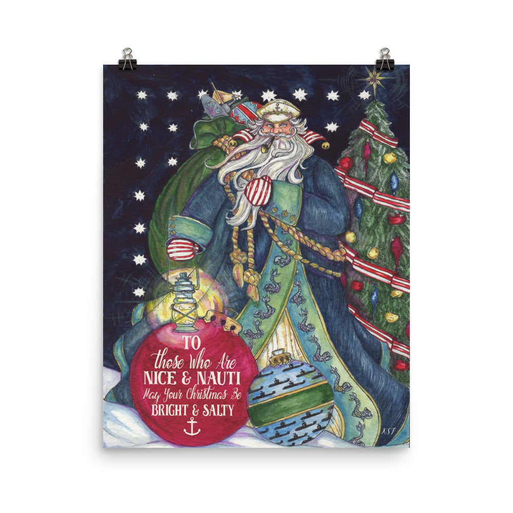 Salty (Submarine) Santa - Art Print