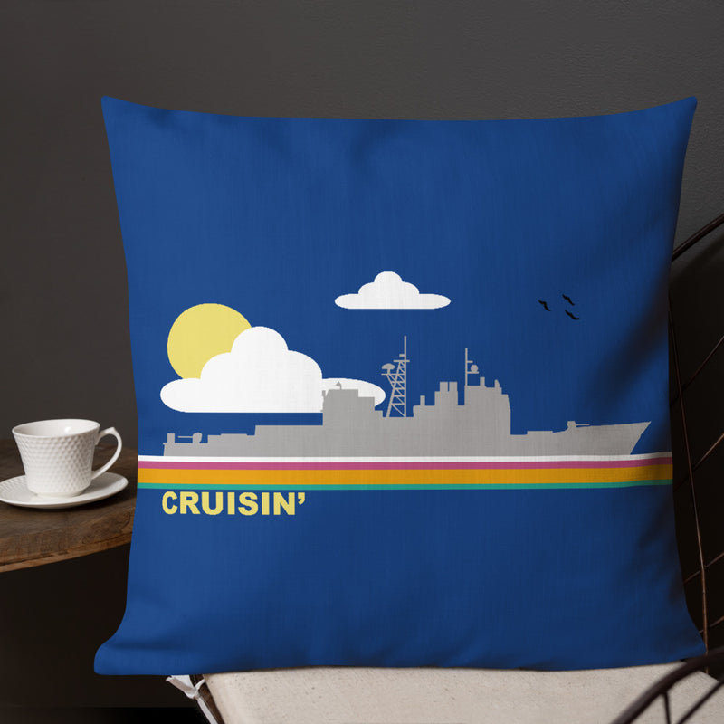 Cruisin' - (Cruiser) Throw Pillow