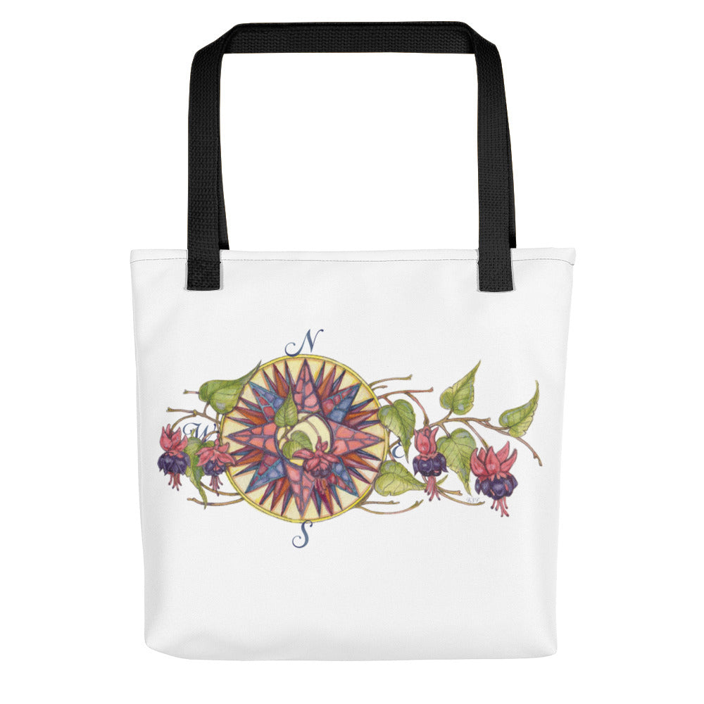 Blooming Compass: Fuchsia of New England - Tote bag