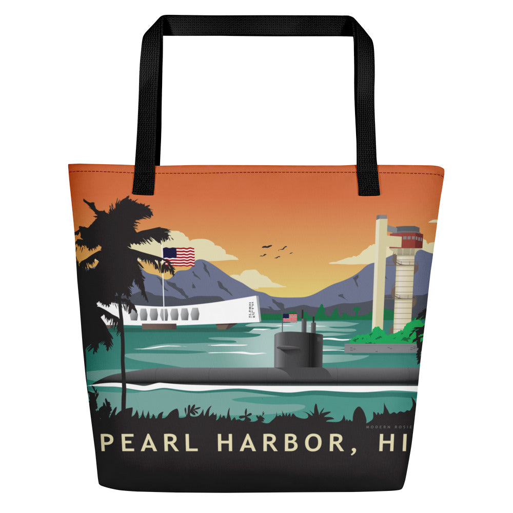 Pearl Harbor Submarine Beach Bag