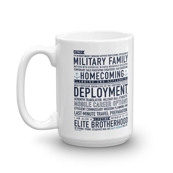 Navy Husband Will Do - Coffee Mug from Modern Rosie