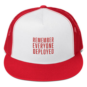 The RED Hat - Embroidered Trucker Hat from Modern Rosie