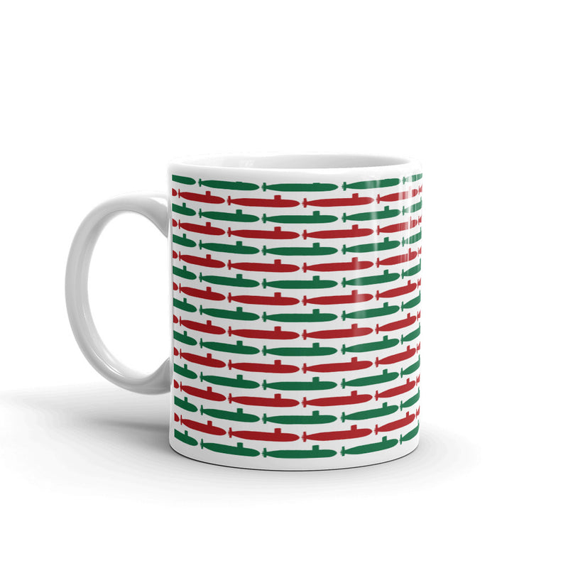 Submarine Christmas Coffee Mug