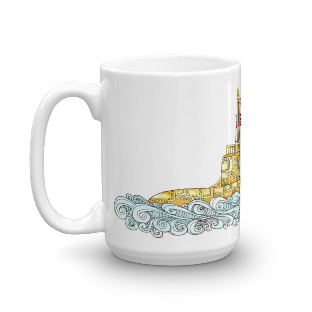 Love Runs Deep - Submarine Coffee Mug