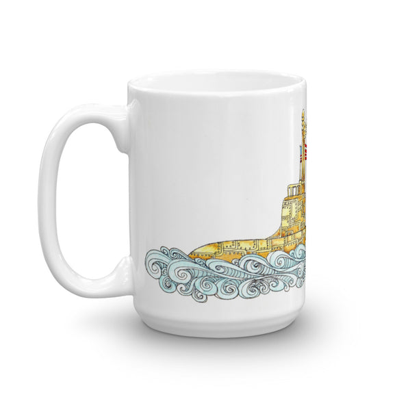 Love Runs Deep - Submarine Coffee Mug from Modern Rosie
