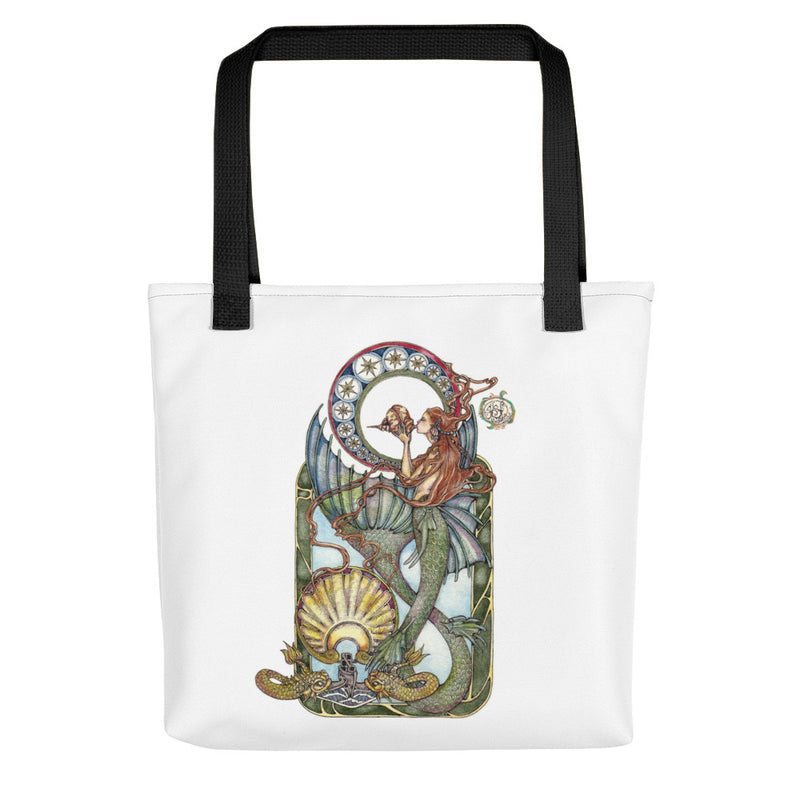 Maid of the Deep (Gold Dolphins) Tote bag