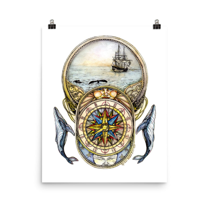 Whale of a Tale Chapter 1 (Tall Ship) - Art Print
