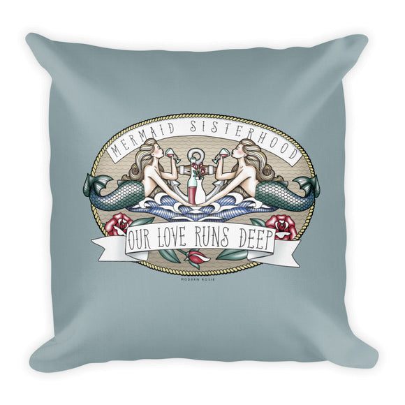 Mermaid Sisterhood - Throw Pillow from Modern Rosie