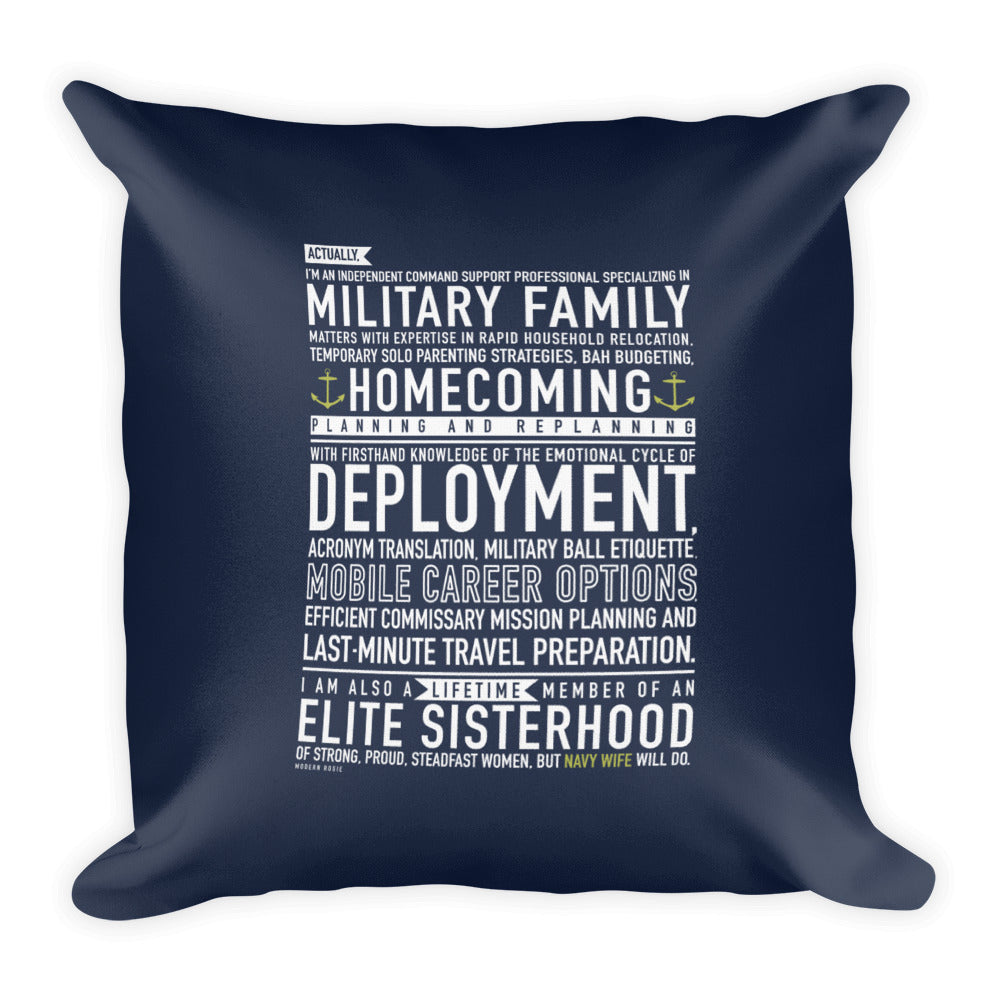 Navy Wife Will Do - Throw Pillow