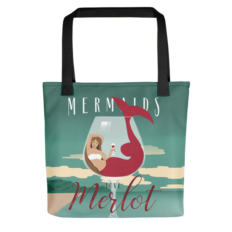 Mermaids Love Merlot Tote bag