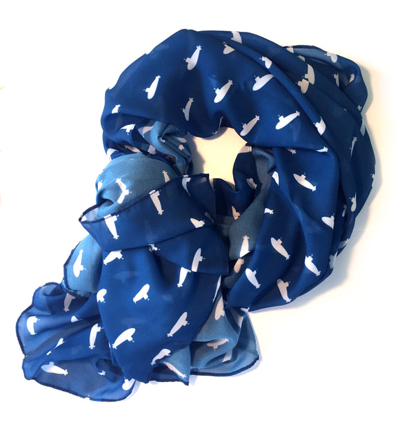 Tiny Subs Scarf in Navy