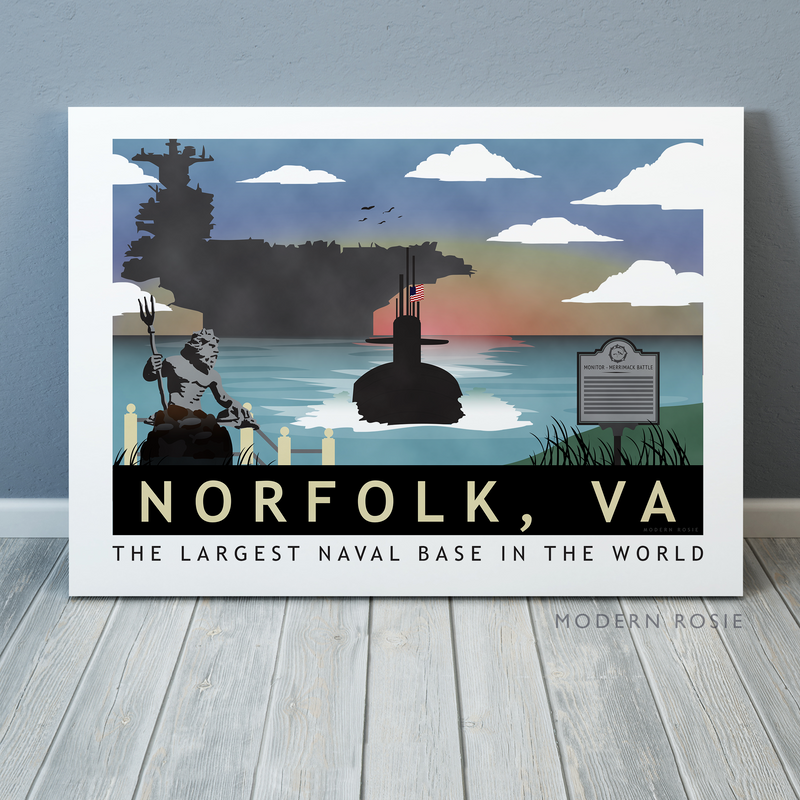 CUSTOM Submarine Homeport Canvas